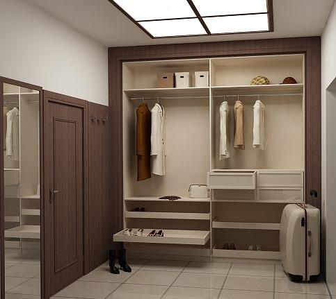 Шкаф-купе в коридоре и гардеробная Идеи для ремонта 13