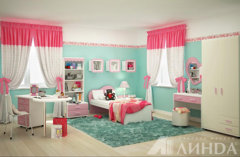 Детская для девочки розовый белый