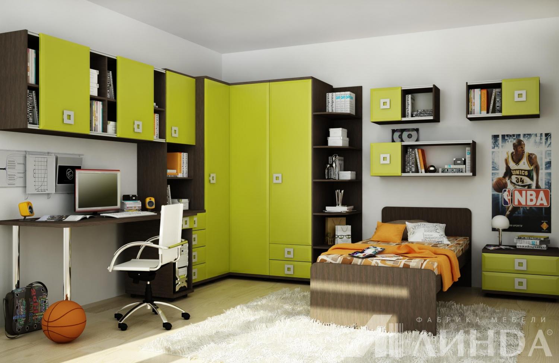 Квадро - коллекция мебели для подростковой детской комнаты д.